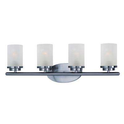Corona 4-Light Polished Chrome Bath Light Vanity