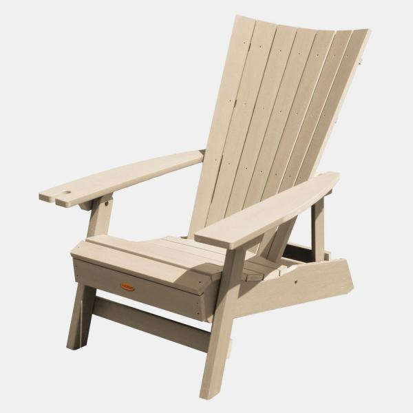 Manhattan Beach Tuscan Taupe Folding Plastic Adirondack Chair