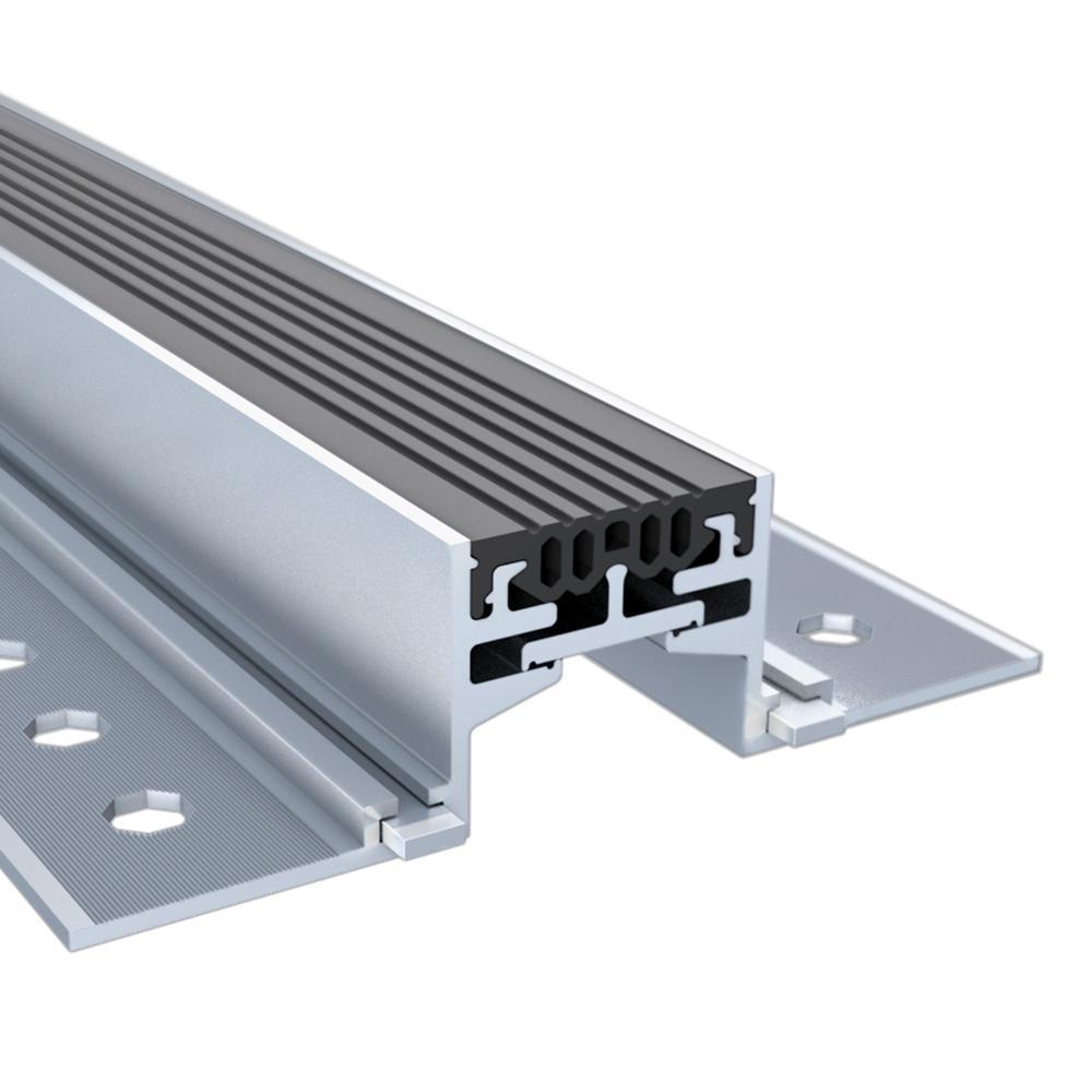 Novojunta Pro Alum Black 2 in. x 1-3/4 in. x 98-1/2 in. Aluminum Expansion Joint