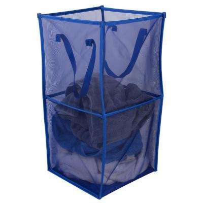 Medium Breathable Micro Mesh Blue Collapsible Laundry Cube