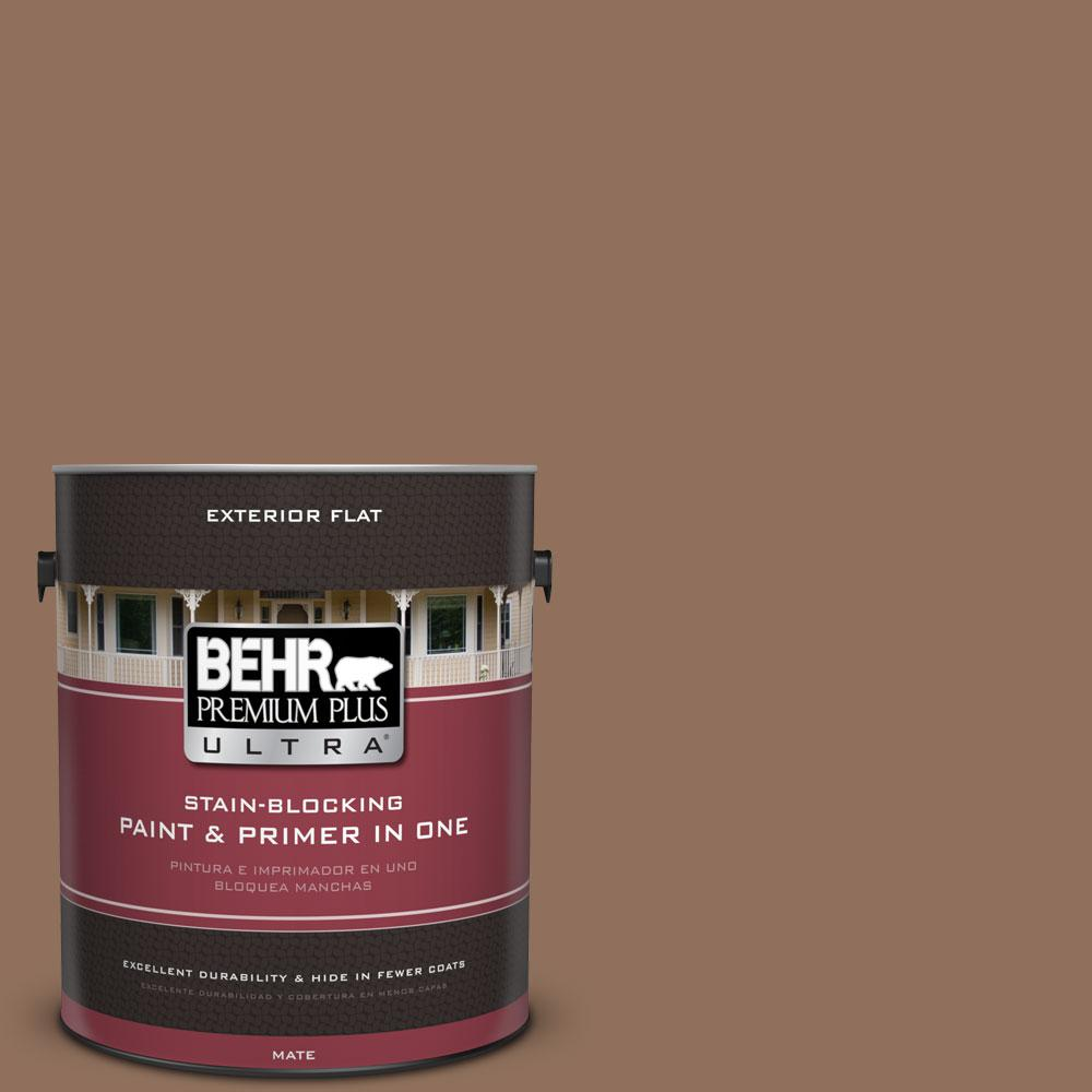 BEHR Premium Plus Ultra 1-gal. #N240-6 Wild Mustang Flat Exterior Paint