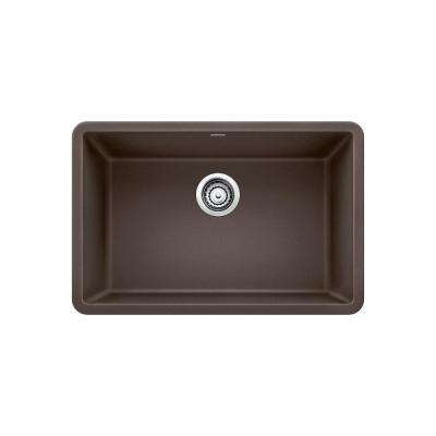 PRECIS Undermount Granite Composite 27 in. Single Bowl Kitchen Sink in Cafe Brown