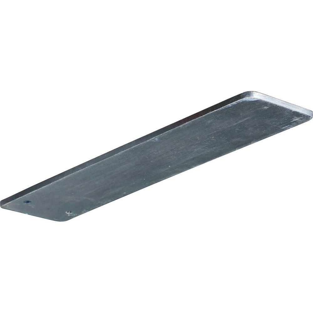 Ekena Millwork 12 in. x 3 in. x 1/4 in. Steel Unfinished Metal Logan Bracket