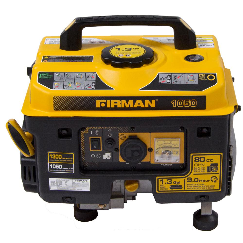 Performance Series 1300/1050-Watt Gas Powered Extended Run Time Portable Generator