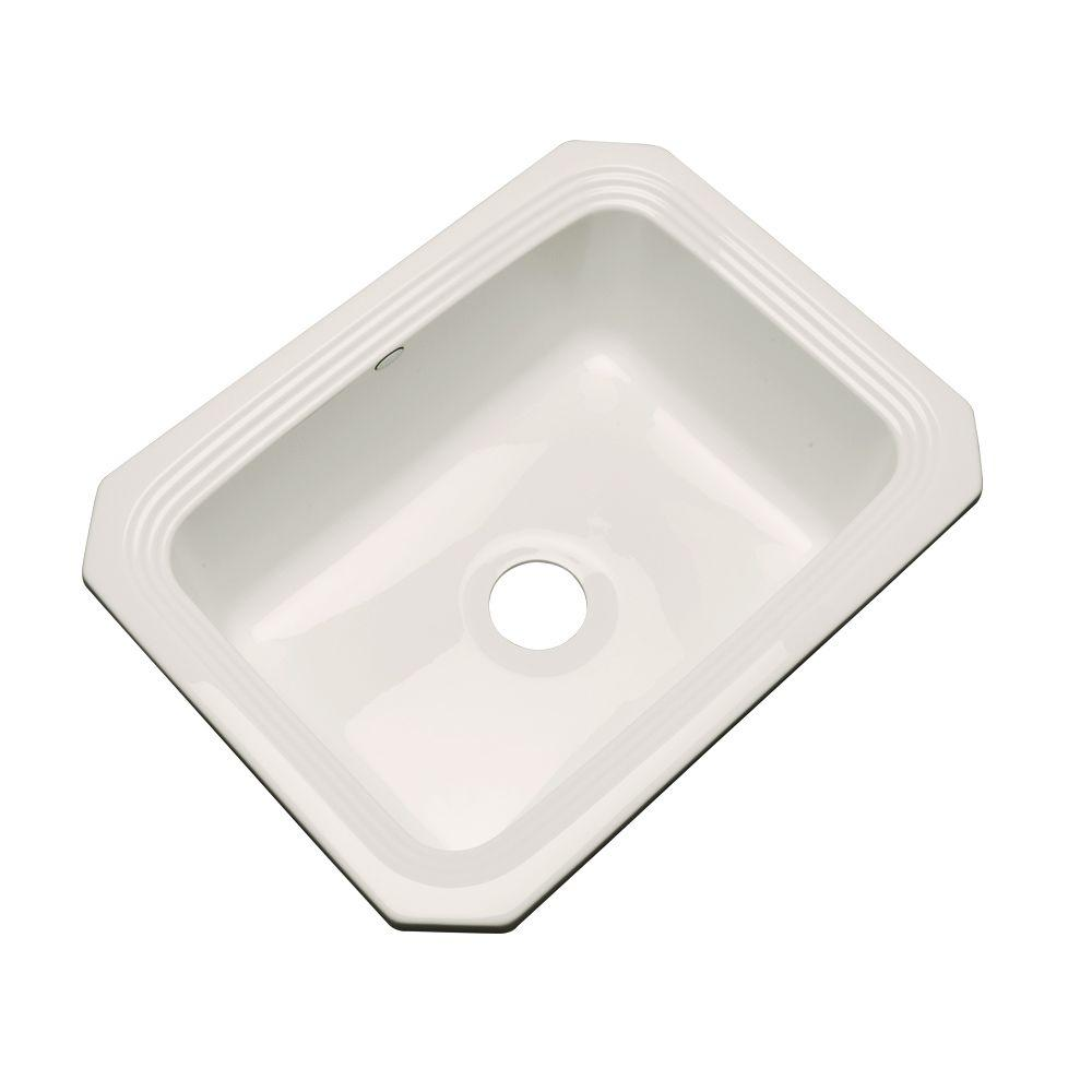 Rochester Undermount Acrylic 25 in. Single Bowl Kitchen Sink in Bone (Ivory)