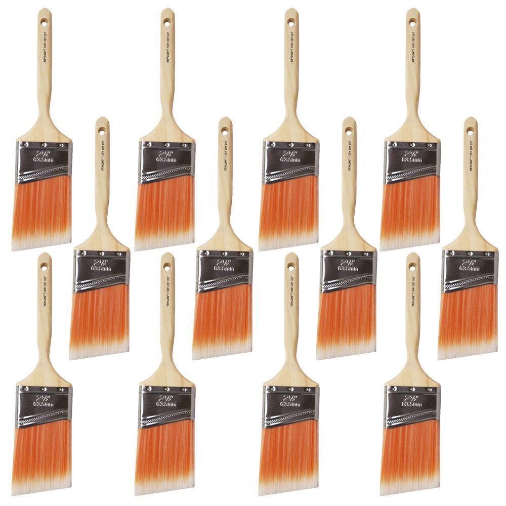 2.5 in. Trylon Angle Sash Brush (12-Pack)