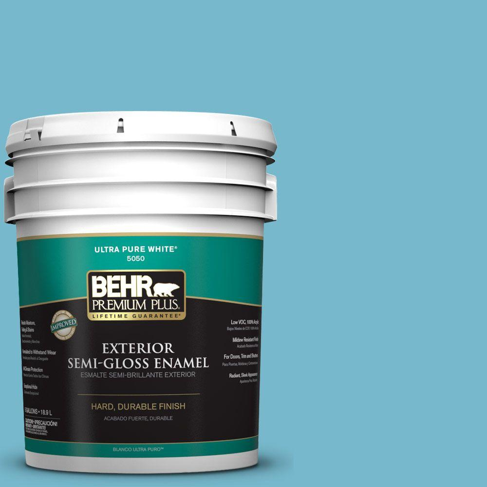 5-gal. #M480-4 Below Zero Semi-Gloss Enamel Exterior Paint
