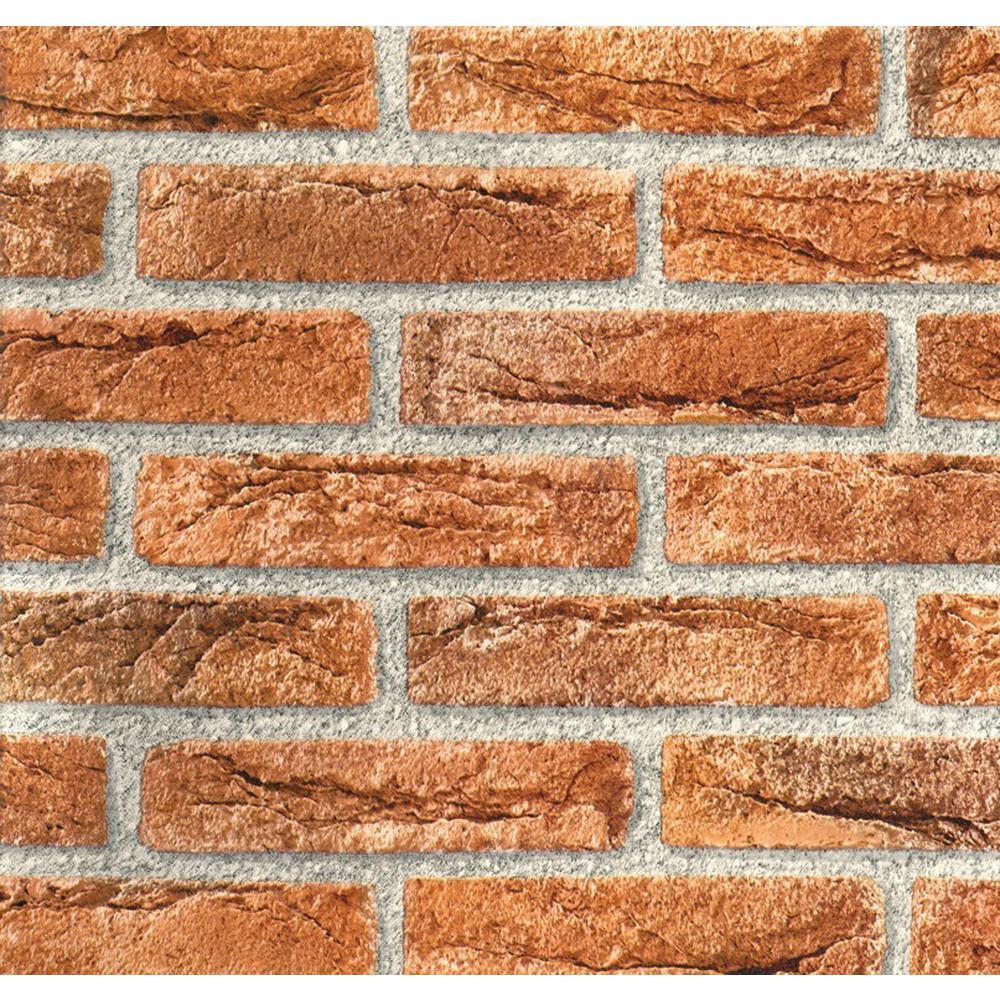 Red/Brown Brick Self Adhesive Film (2-Pack)