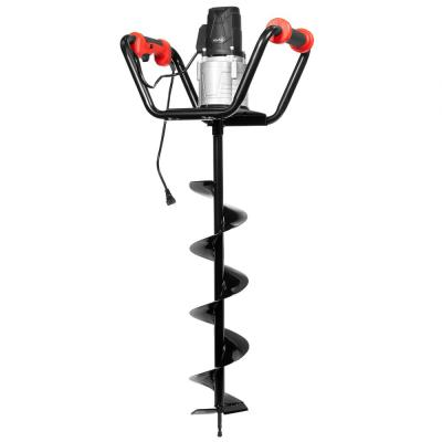1500-Watt 1.6 HP Electric Earth Post Hole Digger with 6 in. Digging Auger Drill Bit in Black