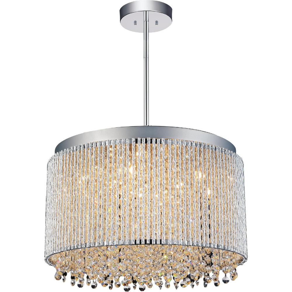 Cwi Lighting Claire 10 Light Chrome Chandelier