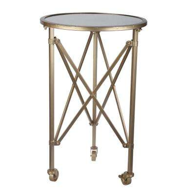 Tennyson Gold Round Side Table