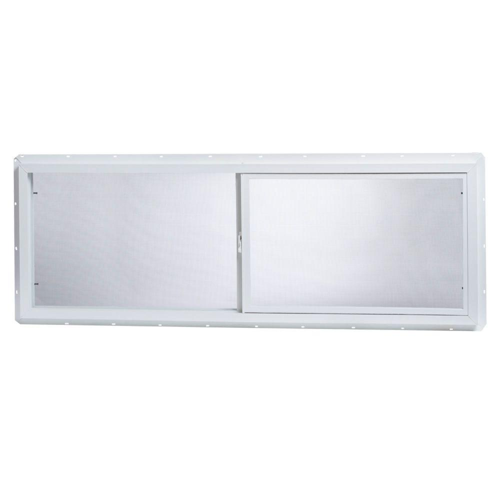 TAFCO WINDOWS 63 in. x 17.5 in. Utility Right-Hand Sliding Vinyl Window - White