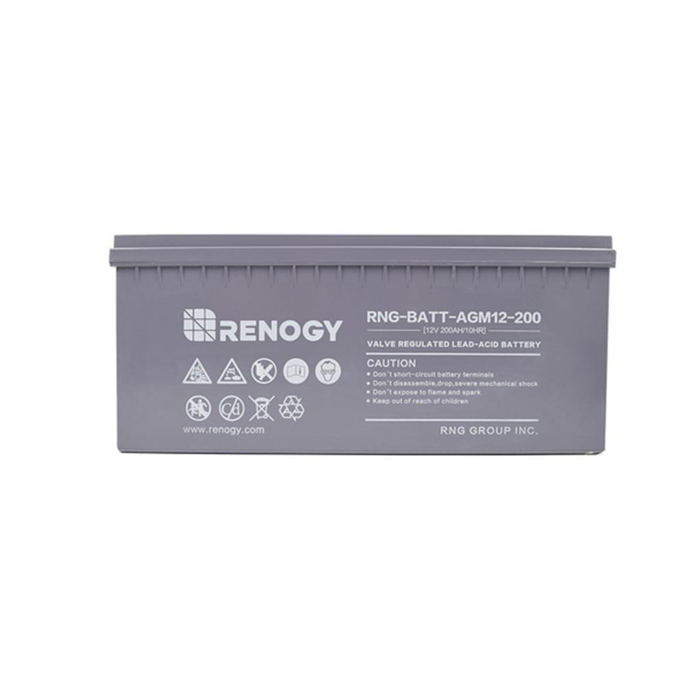 Deep Cycle AGM Battery 12-Volt 200Ah for Solar Sanels Solar System