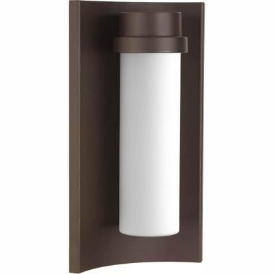 Z-1020 Collection 9-Watt 13.5 in. Outdoor Architectural Bronze Integrated LED Wall Lantern Sconce