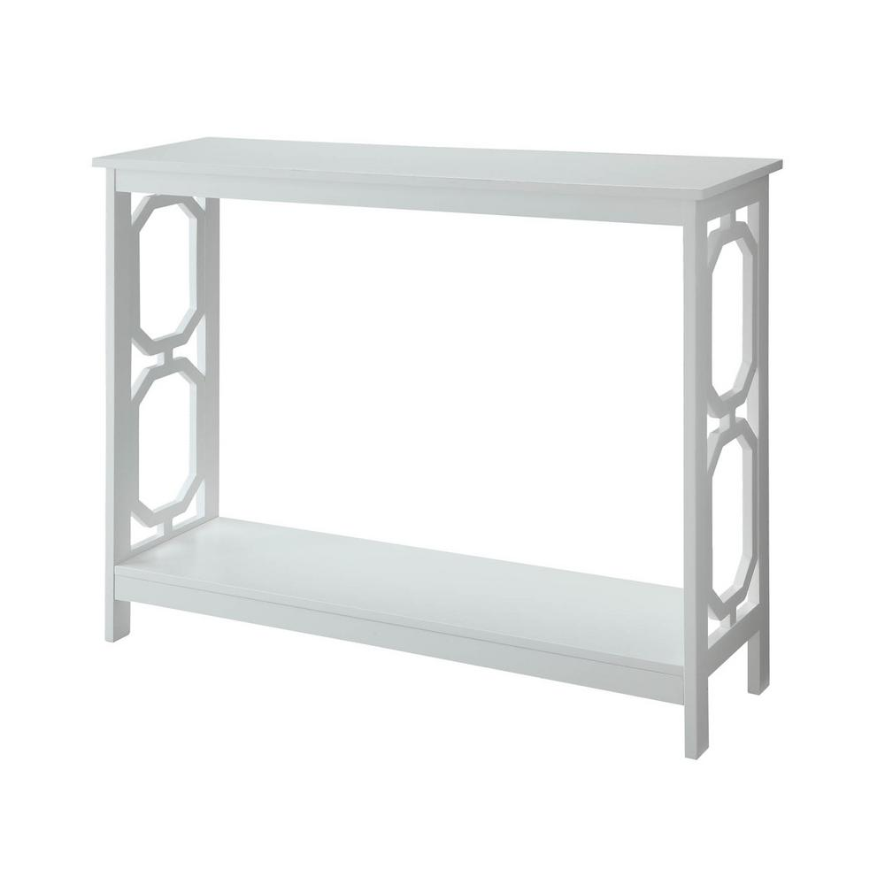Omega White Console Table
