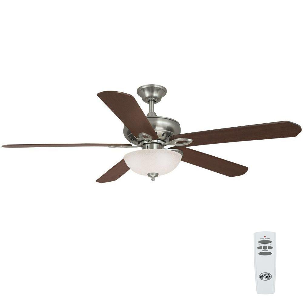 Asbury 60 in. Indoor Brushed Nickel Ceiling Fan with Light Kit
