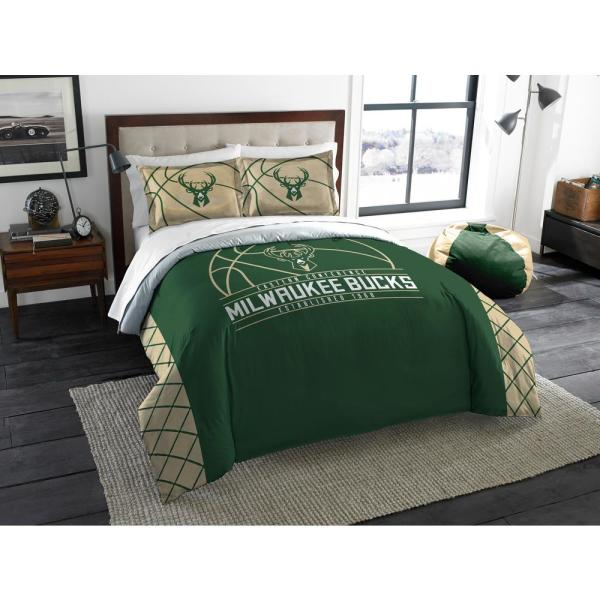 Bucks 3 Pc. Multi Color Polyester Reverse Slam Full and Queen