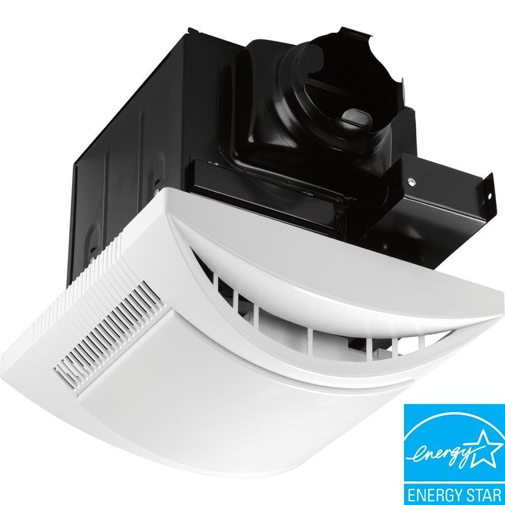 Progress Lighting White 1-Light, 80 cfm Ventilation Fan