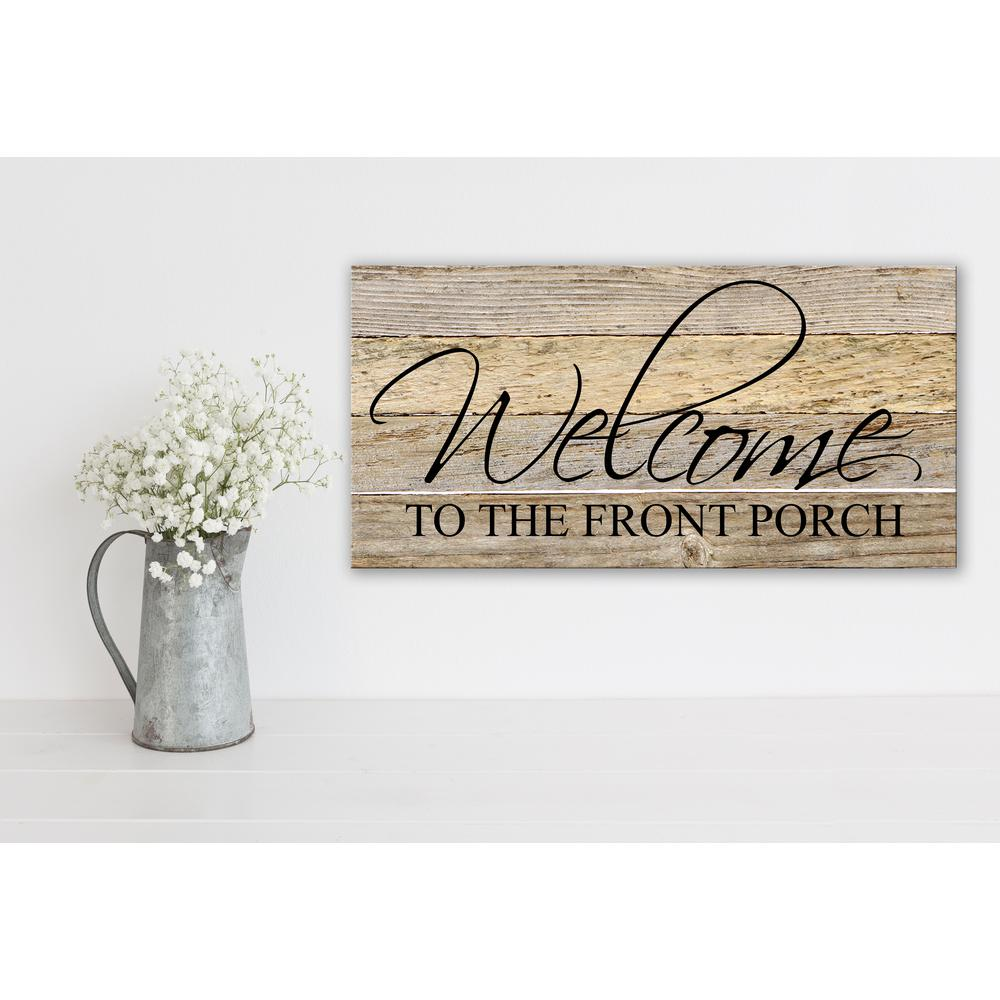 WELCOME TO THE FRONT PORCH Reclaimed Wood Decorative Sign-2412PORCH ...