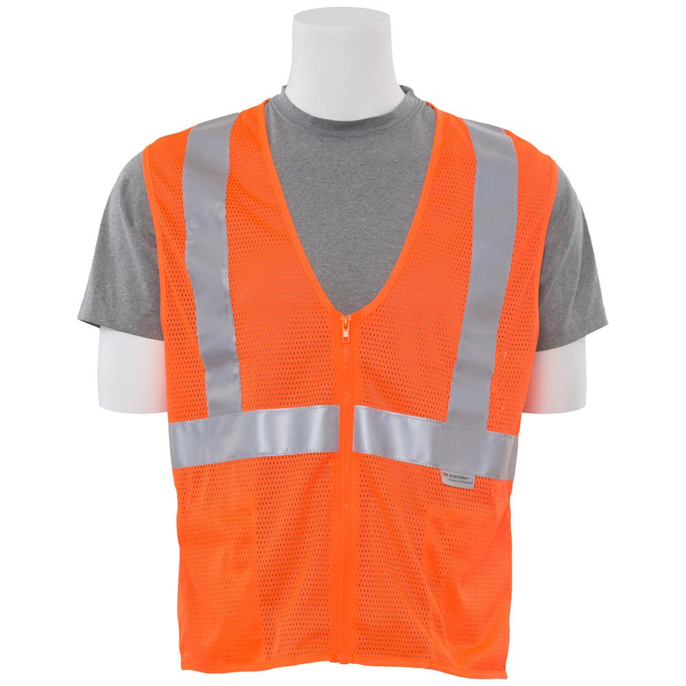 S15Z 5X Hi Viz Orange Poly Mesh Safety Vest