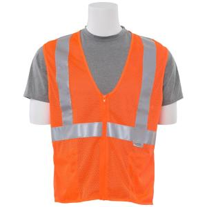 ERB S15Z XL Hi Viz Orange Poly Mesh Safety Vest by ERB