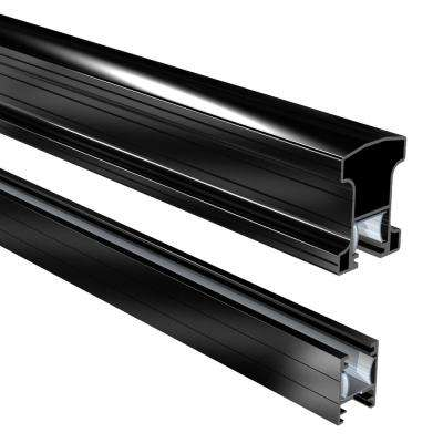 6 ft. Aluminum Stair Hand and Base Rail in Black