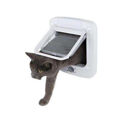 6 in. x 6.25 in. 4-Way Cat Rotary Lock Cat Door