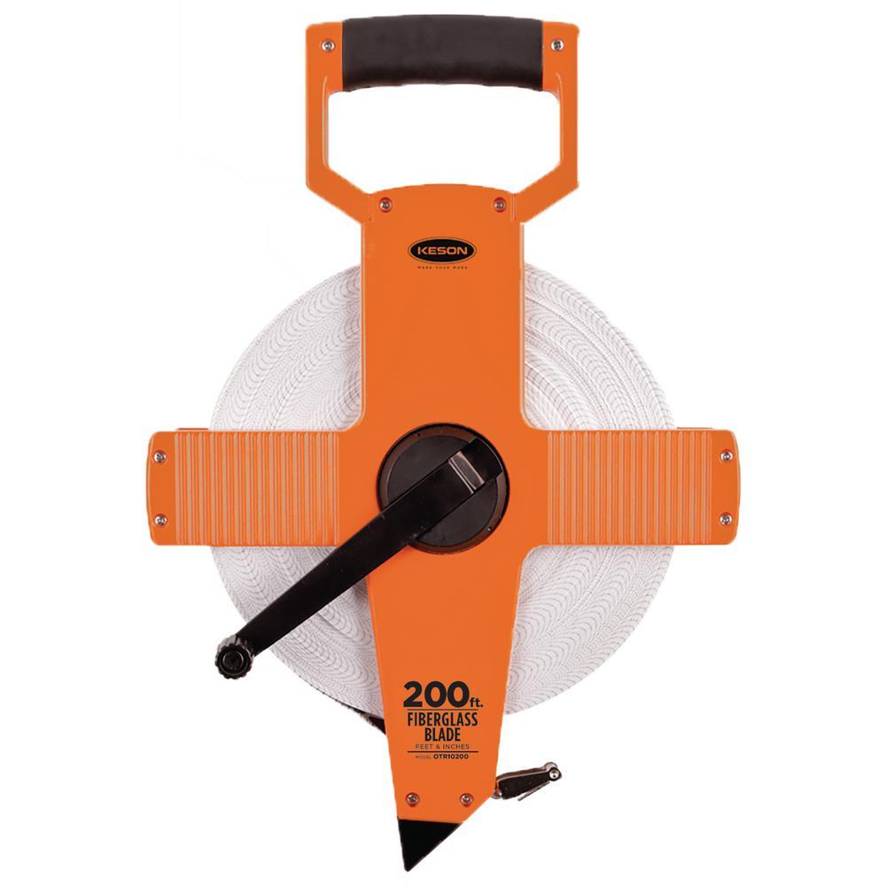 200 ft. Open Reel Fiberglass Tape Measure - Engineer's