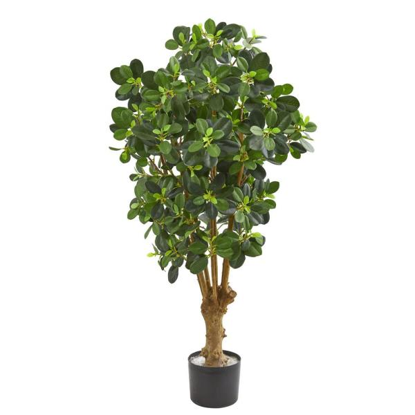 Nearly Natural Indoor 3 in. Panda Ficus Artificial Tree 9163