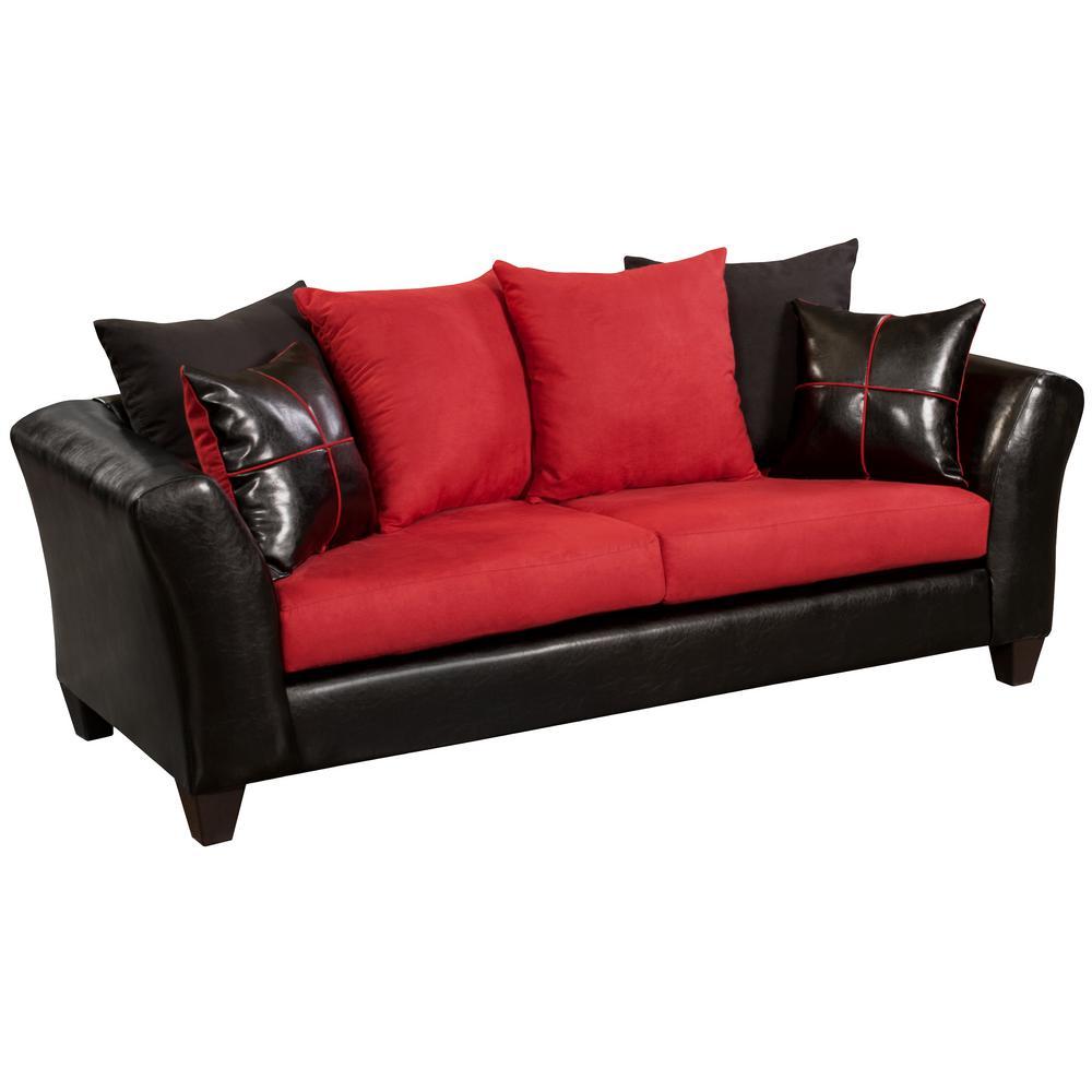 Flash Furniture Victory Lane Cardinal Microfiber Jefferson