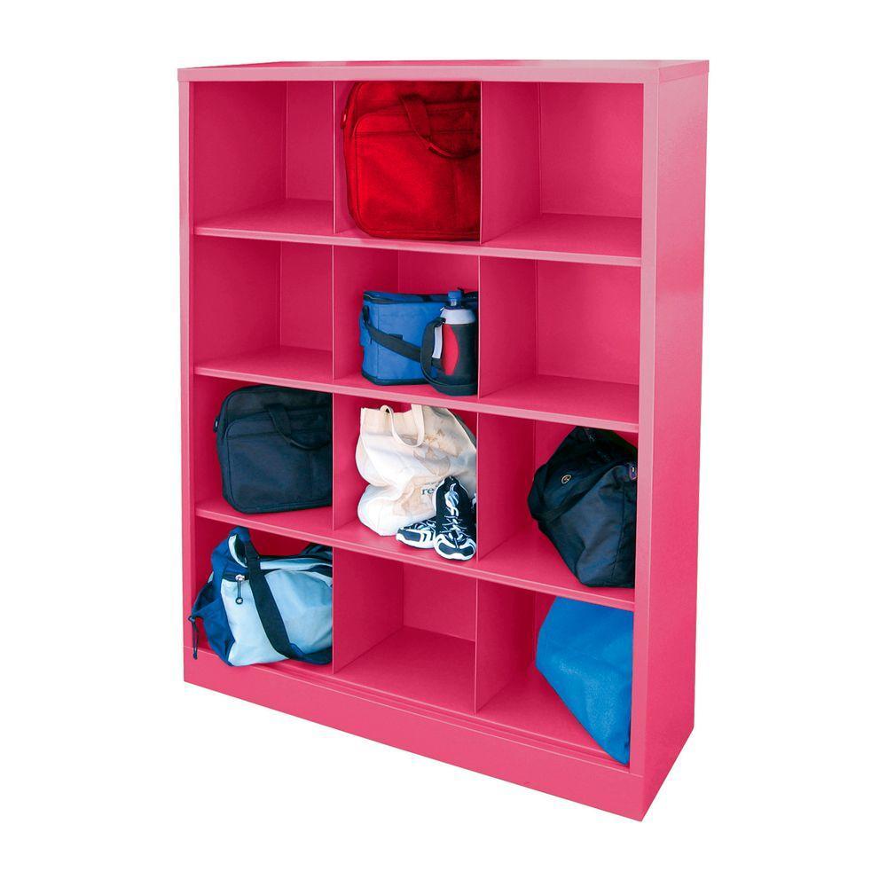 Sandusky Cubby 46 in. x 66 in. Pom Pink 12-Cube Organizer