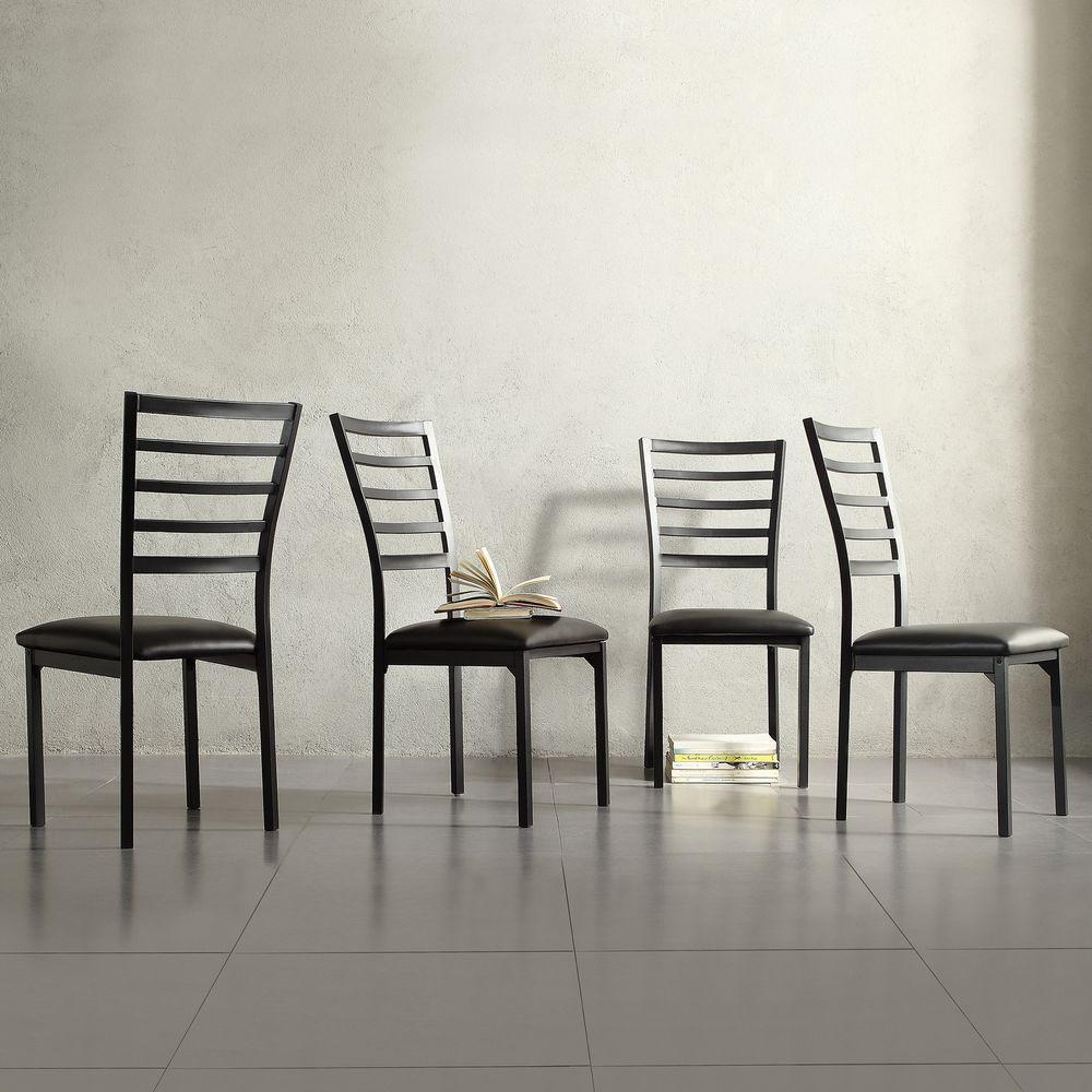 HomeSullivan Miona Black Metal Side Chair (Set of 4)