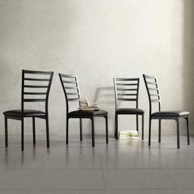 Miona Black Metal Side Chair (Set of 4)