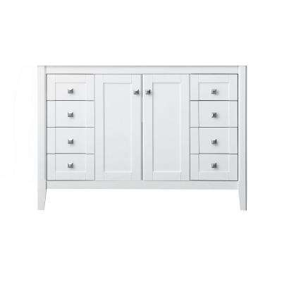 Shelton 47 in. W x 21 in. D Vanity Cabinet Only in White