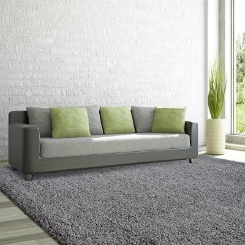 Comfort Shag Charcoal 8 ft. x 10 ft. Area Rug