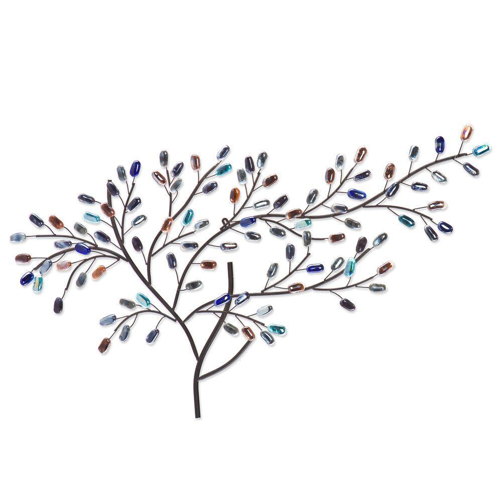 Southern Enterprises Herzer Metal/Glass Tree Decorative W...