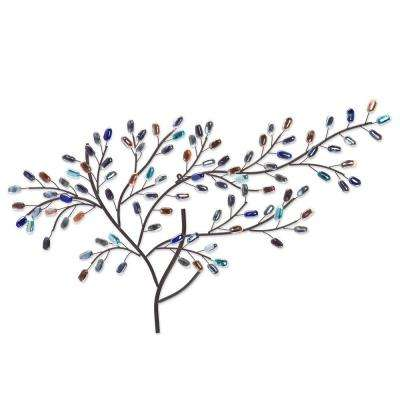 Herzer Metal/Glass Tree Decorative Wall Sculpture