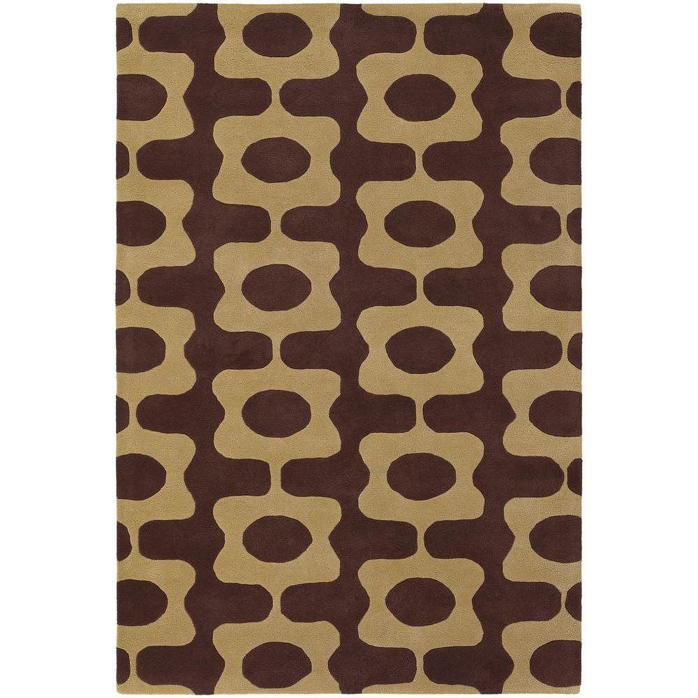 Inhabit Brown/Tan 7 ft. 9 in. x 10 ft. 6 in.