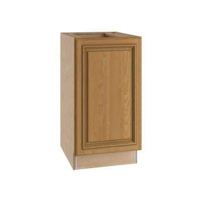 Clevedon Assembled 15x34.5x24 in. Single Pullout Wastebasket Base Kitchen Cabinet in Toffee Glaze