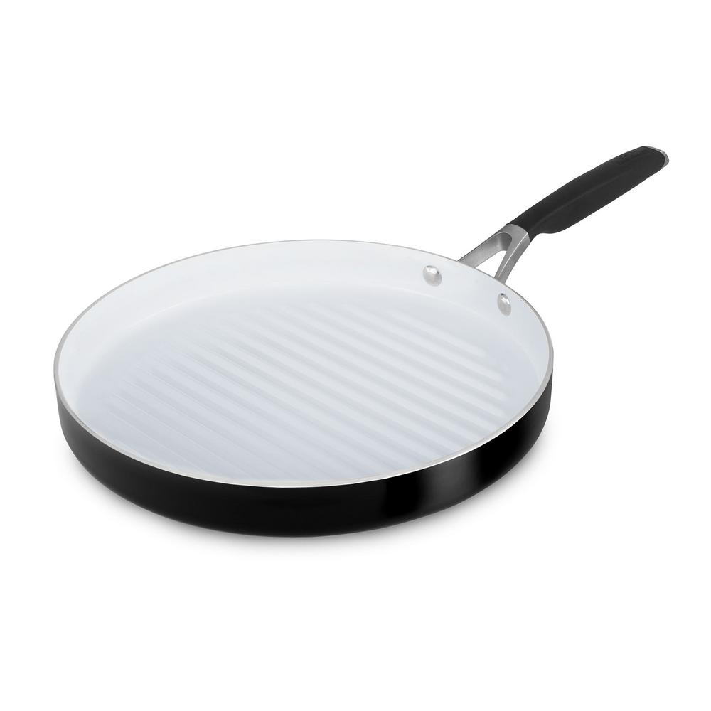 Calphalon Select 12 in. Ceramic Nonstick Round Grill Pan,...