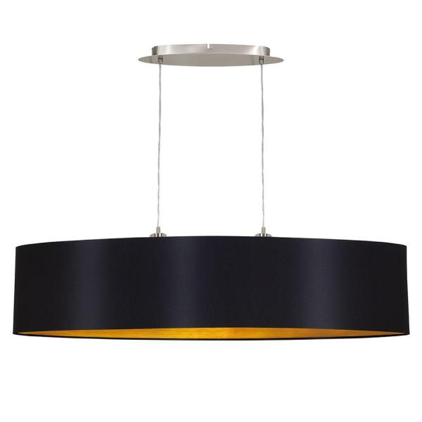 Maserlo 2-Light Black and Chrome Pendant Light