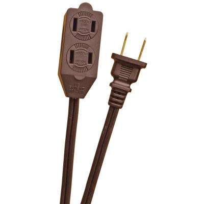 12 ft. 16/2 in. Brown Cube Tap Extension Cord
