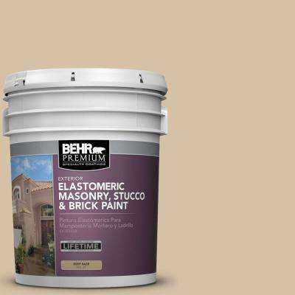 5 gal. #MS-22 Dune Elastomeric Masonry, Stucco and Brick Exterior Paint