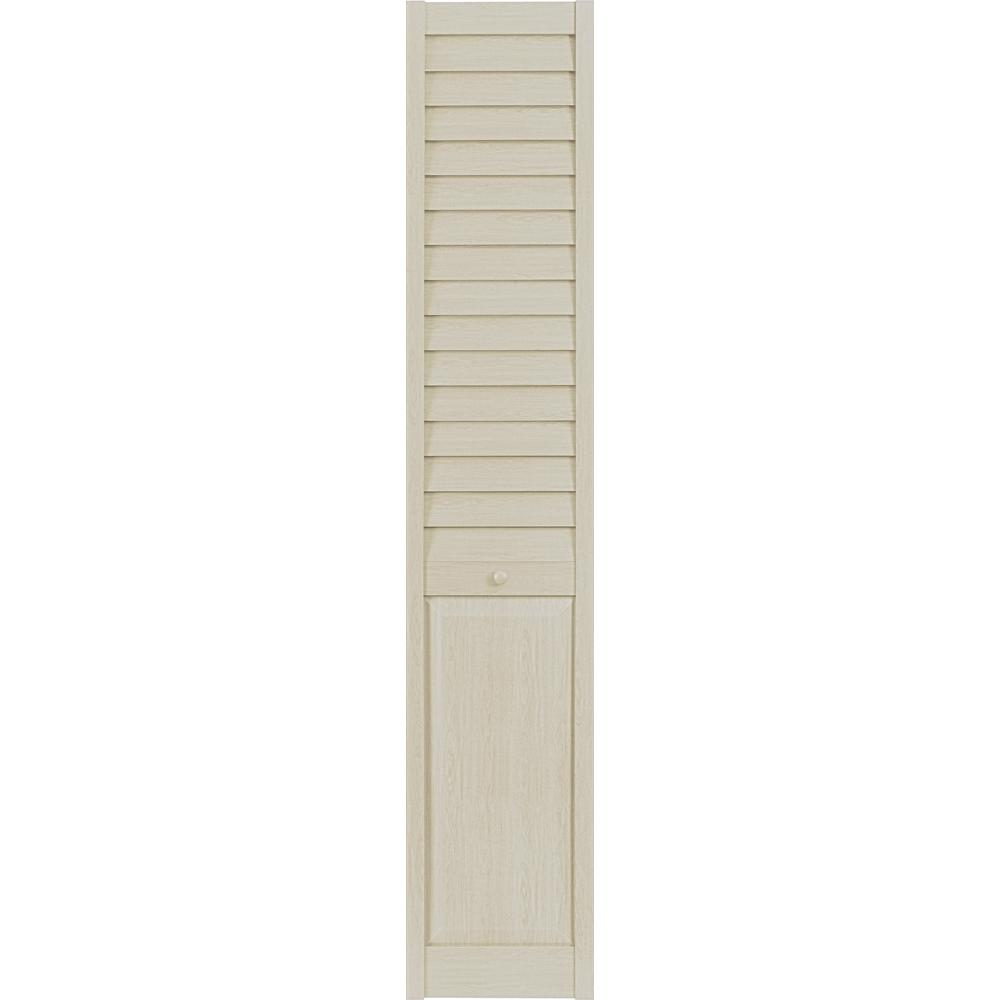 24 in. x 79 in. 3 in. Louver/Panel Elm PVC Composite