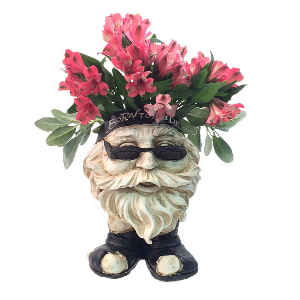 Homestyles 13 In H Biker Dude Antique White Muggly Face