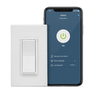 Decora Smart Wi-Fi 15 Amp Light Switch No Hub Required Works with Alexa Google Assistant Wallplate Included, White