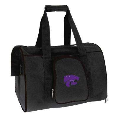 NCAA Kansas State Wildcats Pet Carrier Premium 16 in. Bag in Black