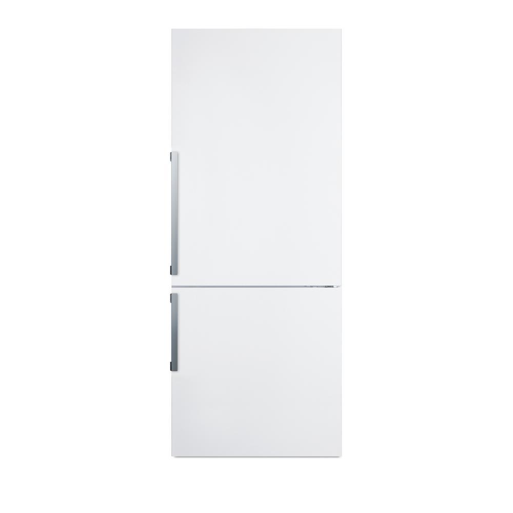 27 in. 16.8 cu. ft. Bottom Freezer Refrigerator in White, Counter