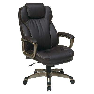 Espresso Eco Leather Executive Office Chair