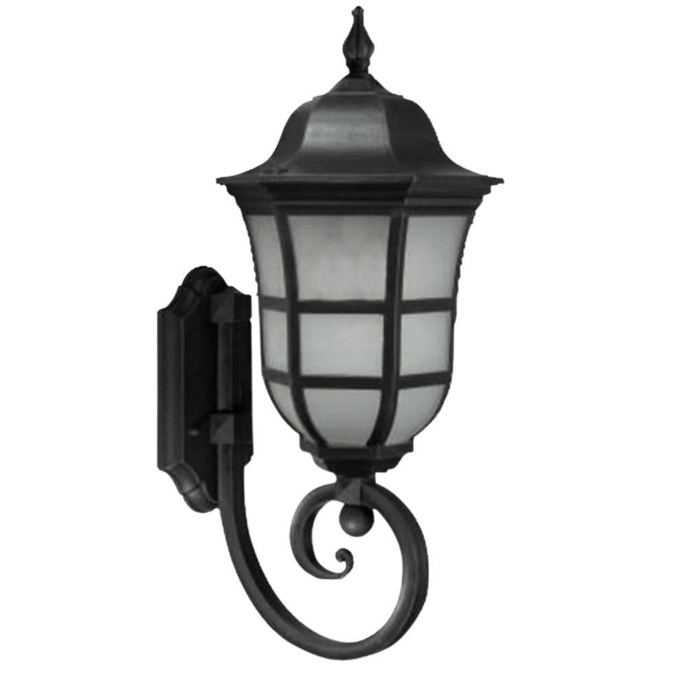 Vail Collection 1-Light Black Outdoor Wall Lantern